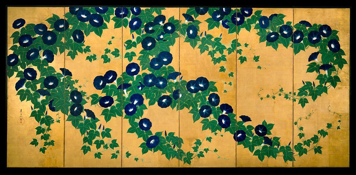 Morning Glories, Suzuki Kiitsu (1796–1858)